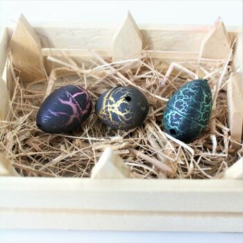 Box Of Six Hatching Dinosaur Eggs