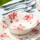 Coral Rose Summer Floral Tableware