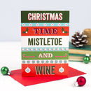 'Mistletoe And Wine' Retro Christmas Card