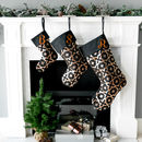 Personalised Christmas Stocking In Black And Copper