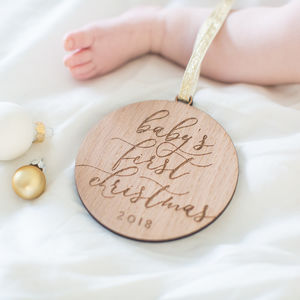 'Babys First Christmas' Tree Decoration - baby's first christmas