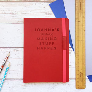 'Making Stuff Happen' Personalised Planning Notebook - notebooks & journals
