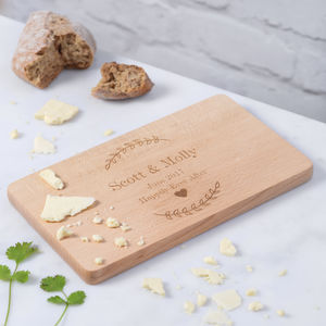 Personalised Wooden Couples Cheese Board