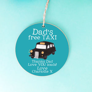 Personalised Dad's Taxi Sign