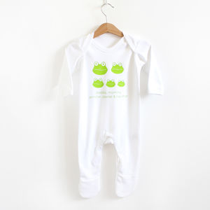 Frog Family, Personalised Romper