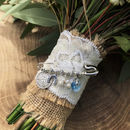 Bridal Charm Pin on Bouquet