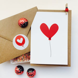 Heart Balloon Valentines Day Card