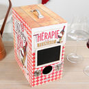 French Therapy Vintage Style Personalised Wine Box