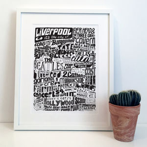 Liverpool City Typography Print