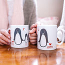 Personalised Penguin Family Christmas Mug