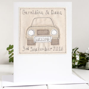 Personalised Wedding Car Card