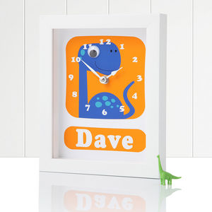 Personalised Framed Dinosaur Clocks - best gifts for boys