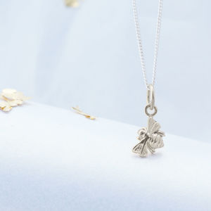 Delicate Sterling Silver Bee Necklace