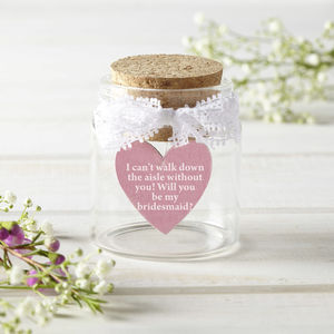'Will You Be My Bridesmaid' Personalised Token - message tokens