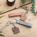 Personalised His And Hers New Home Keyring Gift Set