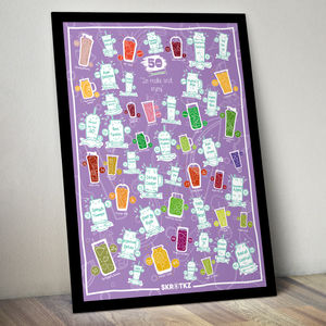 Personalised 51 Smoothies Scratch Poster