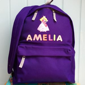 Princess Personalised Girls Backpack - more