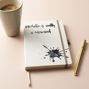 Personalised Ink Splat Notebook