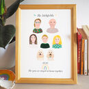 Personalised Family Portrait Hand Painted Print