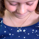 Girl's Personalised Sterling Silver Star Necklace
