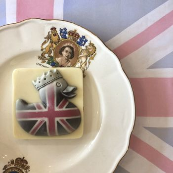 Mini Chocolate Duck With Union Jack