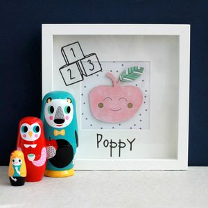 Personalised Baby Apple Picture