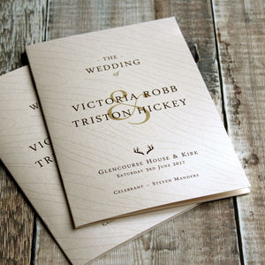 Hunt Is Over Wedding Day Stationery - wedding stationery