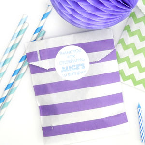 Personalised Age Birthday Party Stickers - diy & craft