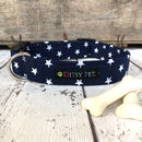 Midnight Star Navy Dog Collar
