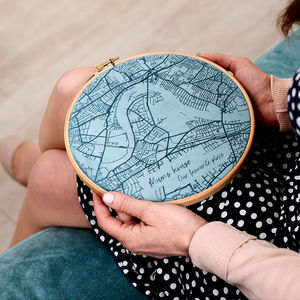 Velvet Map Personalised Wall Art - free delivery gifts to mainland UK