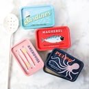 Mini Retro Style Fishy Tin
