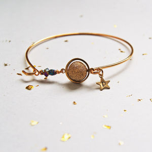 Orbit Personalised Initial Star And Planet Bangle - bracelets & bangles