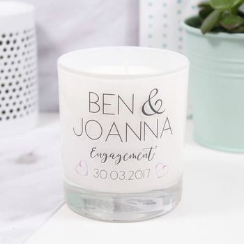 Personalised Engagement Luxury Scented Candle