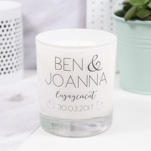 Personalised Engagement Luxury Scented Candle - personalised engagement gifts