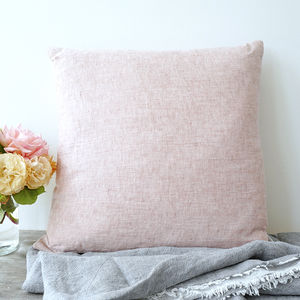 Chambray Pure Linen Cushion Or Throw - throws, blankets & fabric