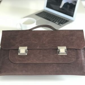 Leather Document Laptop Case