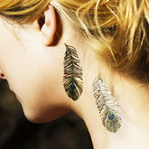 Peacock Feather Temporary Tattoo - health & beauty