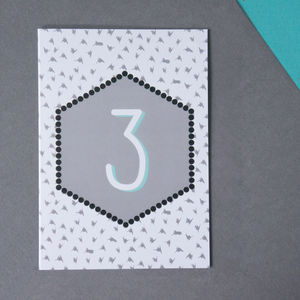 Child's Monochrome Age Birthday Card - birthday cards