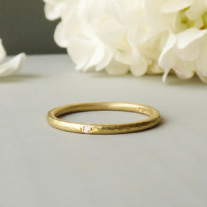 Coco Fairtrade 18ct Gold And Diamond Wedding Ring - gold rings