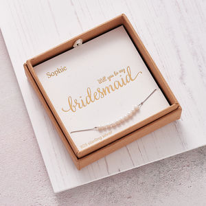 Handmade 'Will You Be My Bridesmaid?' Bracelet