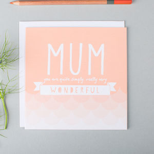 Wonderful Mum Thank You Card - winter sale