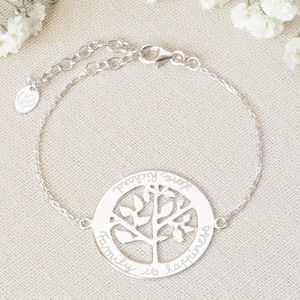 Personalised Tree Of Life Chain Bracelet