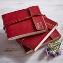Personalised Handcrafted Small Leather Photo Album