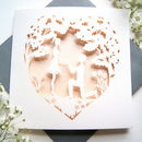 Engagement Proposal Laser Cut Card In Blush