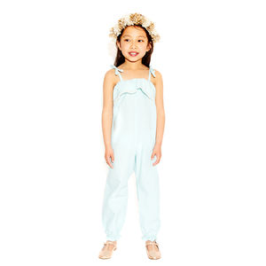 Girls Romper Frill Collar - clothing
