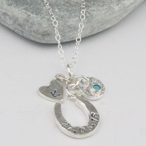 Silver Personalised Bride To Be Horseshoe Necklace - necklaces & pendants
