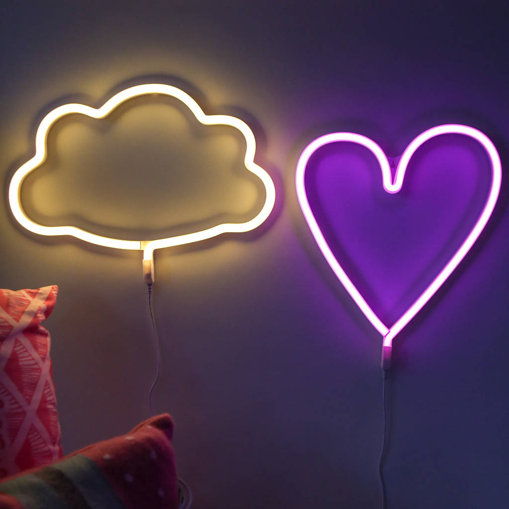 Neon Style Led Wall Light By Berylune Notonthehighstreet Com