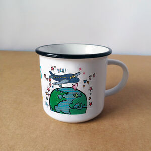 Personalised Travelling The World Gift Mug