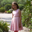 Pink Sparkle Cotton Flower Girl Party Occasion Dress