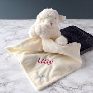 Personalised Cream Lamb Kiddo Soother